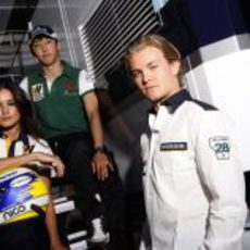 Nico Rosberg y Kazuki Nakajima