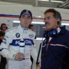 Robert Kubica y Mario Theissen