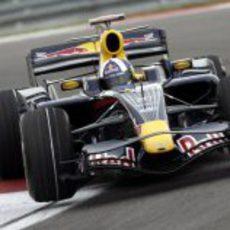 David Coulthard en pista