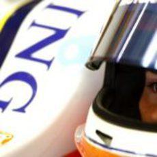 Nelsinho Piquet en el cockpit