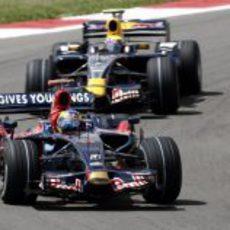 Sebastien Bourdais y Mark Webber