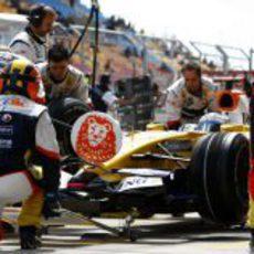 Pit Stop de Fernando Alonso