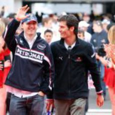 Kubica y Webber