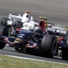 Sebastian Vettel en acción