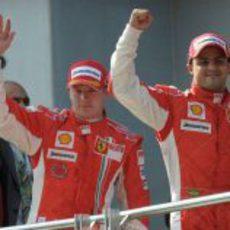 Kimi Raikkonen y Felipe Massa