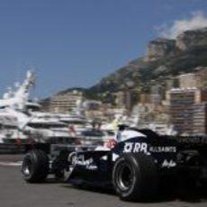 Nakajima en acción en Mónaco