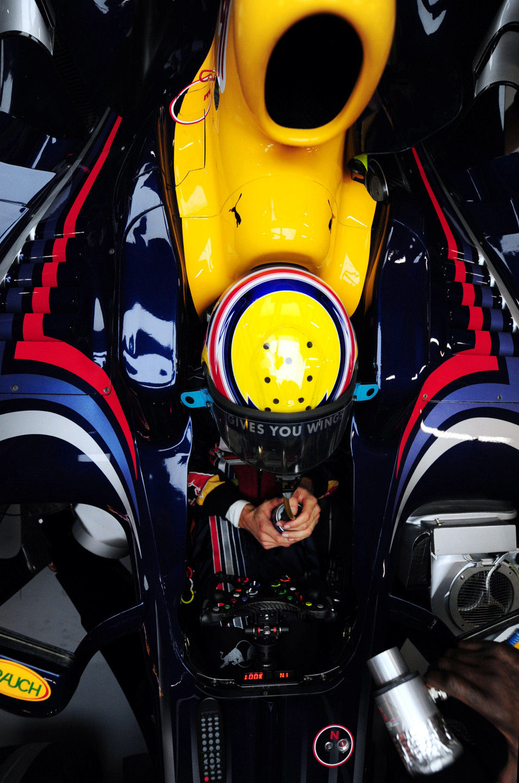 Webber en su Red Bull
