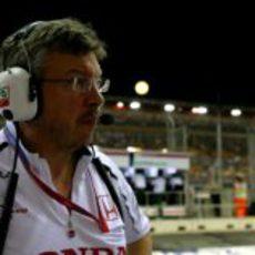 Brawn en el GP de Singapur