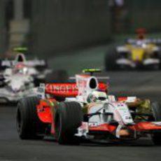 Fisichella en segunda posición