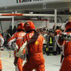 La manguera de Felipe Massa