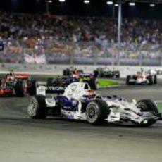 Kubica por delante de Kovalainen