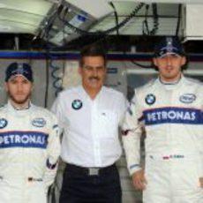 Heidfeld, Theissen y Kubica