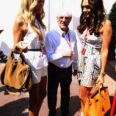 Petra, Bernie y Tamara Ecclestone en el GP de Mónaco 2011
