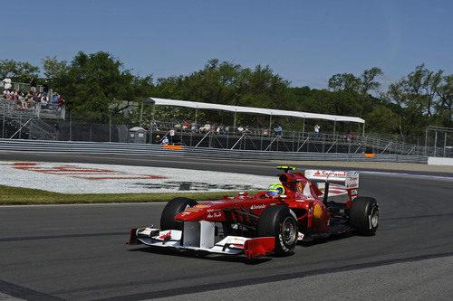 Felipe Massa rueda en el GP de Canadá 2011