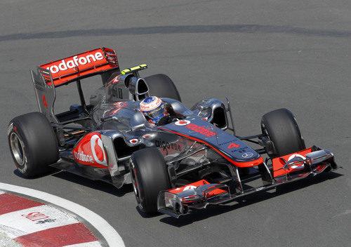 Jenson Button rueda por vez primera en el GP de Canadá 2011