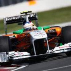 Di Resta en acción en el GP de Canadá 2011