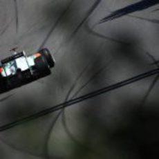 Adrian Sutil rueda en el GP de Canadá 2011
