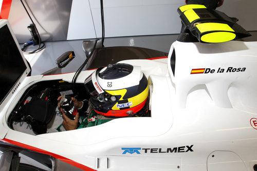 Pedro de la Rosa en el Sauber C30 en el GP de Canadá 2011