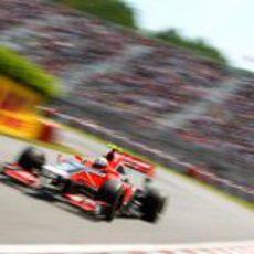 D'Ambrosio pilota en el circuito Gilles Villeneuve de Canadá