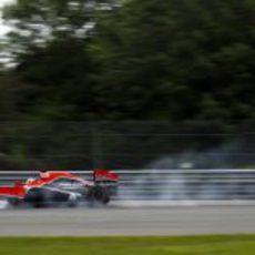 Timo Glock se pasa de frenada en Canadá 2011
