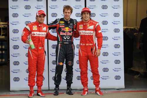 Vettel, Alonso y Massa, los tres primeros en la parrilla del GP de Canadá 2011