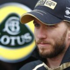 Nick Heidfeld en el paddock de Canadá 2011