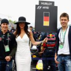 La 'pitbabe' de Sebastian Vettel en el GP de Canadá 2011