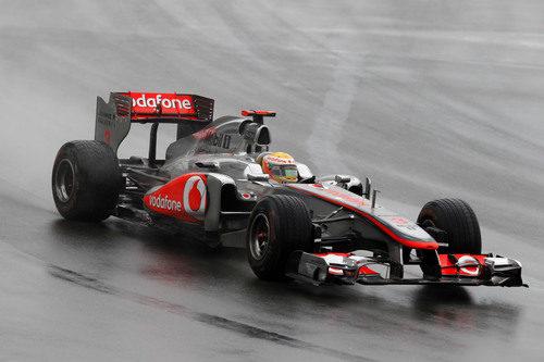 Lewis Hamilton en la carrera de Montreal 2011