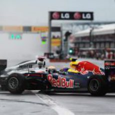 Hamilton y Webber frente a frente tras la salida del GP de Canadá 2011