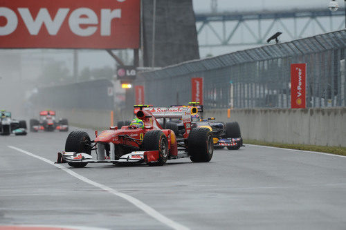 Felipe Massa en la carrera del GP de Canadá 2011