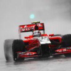 D'Ambrosio bajo la lluvia en el GP de Canadá 2011