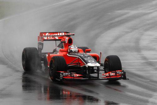 Glock pilota su Virgin en la lluviosa carrera de Canadá 2011
