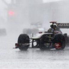 Heidfeld bajo el diluvio en Canadá 2011