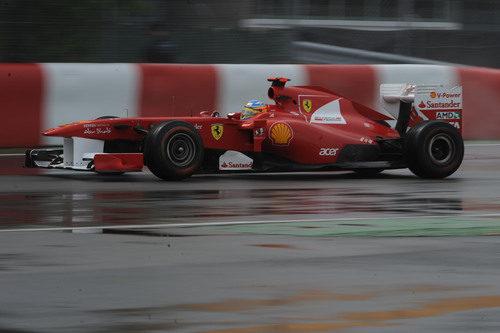 Alonso fue octavo en la resalida del GP de Canadá 2011