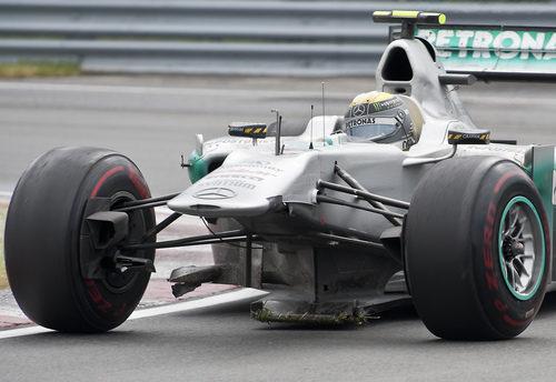 Nico Rosberg acabó el GP de Canadá 2011 sin morro