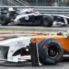 Di Resta rompió su alerón en plena carrera en Montreal