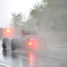 D'Ambrosio bajo la intensa lluvia de Canadá 2011