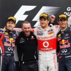 El podio del GP de Canadá 2011