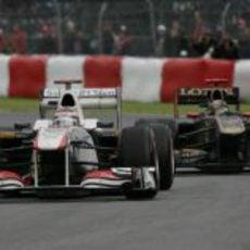 Kobayashi rueda delante de su excompañero en Canadá 2011