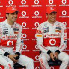 Acto promocional con Pedro de la Rosa y Jenson Button en Valencia