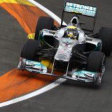 Nico Rosberg durante los libres del GP de Europa 2011
