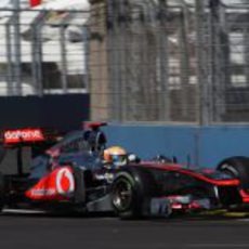 Hamilton en la clasificación del GP de Europa 2011