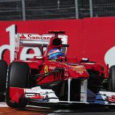 Alonso en la clasificación del GP de Europa 2011