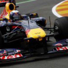Vettel en los primeros libres del GP de Europa 2011