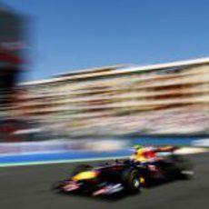 Mark Webber a toda velocidad en Europa 2011