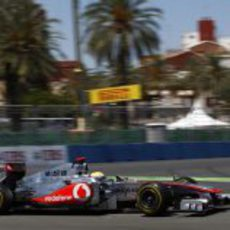Hamilton lucha por la tercera plaza del podio