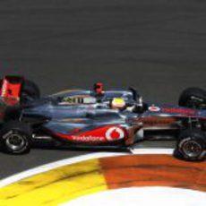 Lewis Hamilton no pudo hacer funcionar los 'medios' en el GP de Europa 2011