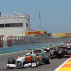 """Sutil encabeza el """"trenecito"""" en el GP de Europa 2011"""