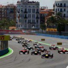 Salida del GP de Europa 2011