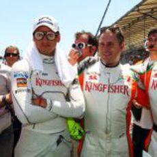 Las gafas de Sutil fueron las grandes protagonistas de la parrilla del GP de Europa 2011